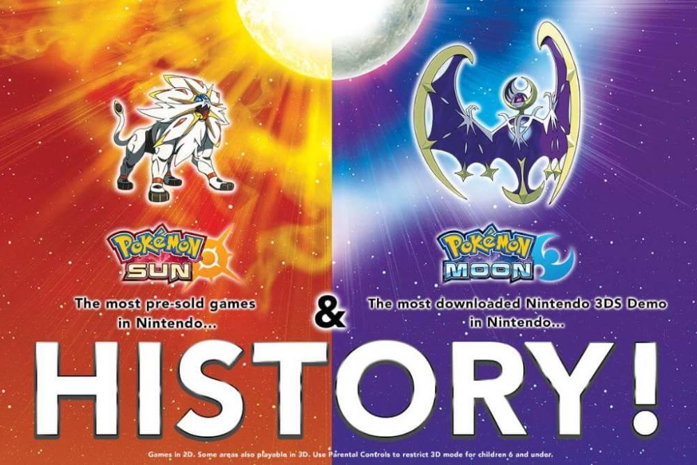 Pokémon Sun & Moon está batendo recordes da Nintendo