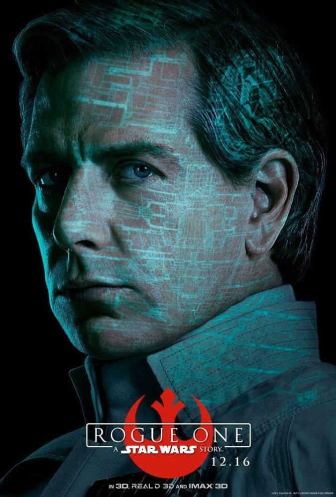 Orson Krennic (Ben Mendelsohn) - Cruel. Brilhante. Obcecado.