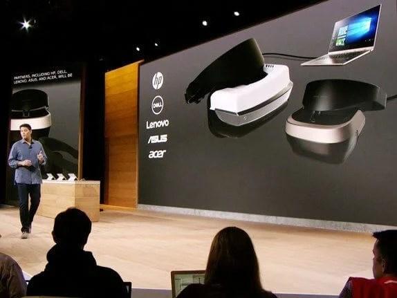 MicrosoftEvent VR Headset2 - Confiras as 10 principais novidades do Windows 10 Creators Update