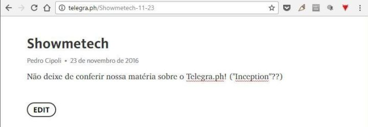 Telegra.ph  720x249 - Conheça o Telegra.ph, plataforma de blog do Telegram