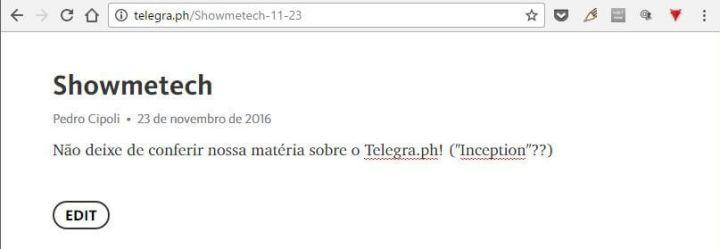 Telegra.ph  720x249 - Conheça o Telegra.ph, plataforma de blog do Telegram