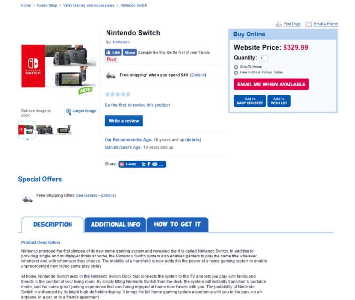 toysrus switch price 840x708 720x607 - [Urgente] Vaza preço do Nintendo Switch (e ele é bem interessante)