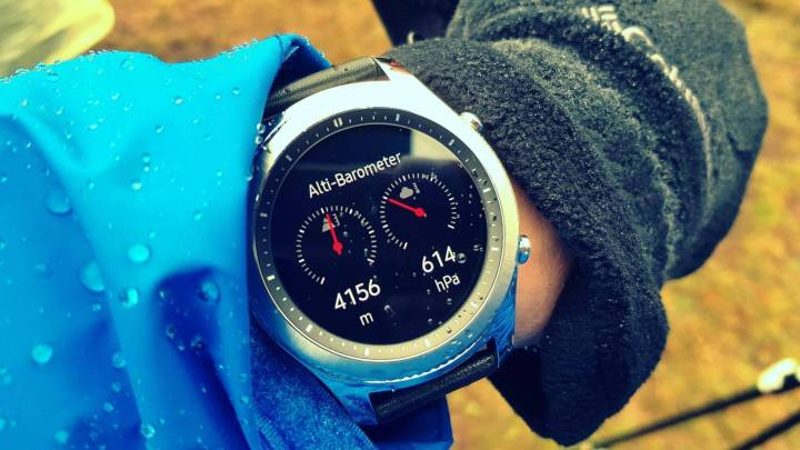 Altímetro e Barômetro gear S3 Samsung