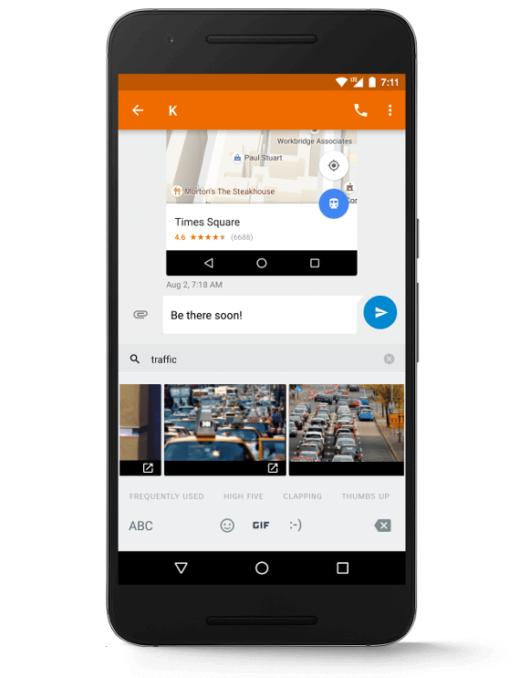 Enviar GIFS diretamente do teclado no Android 7.1.1 Nougat - Google libera Android 7.1.1 para linha Nexus