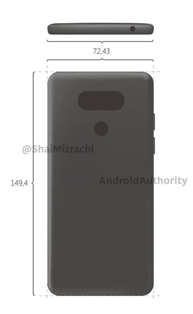 LG G6 vazamento 616x1000 - Imagens renderizadas do LG G6 surgem, mas você pode não gostar muito