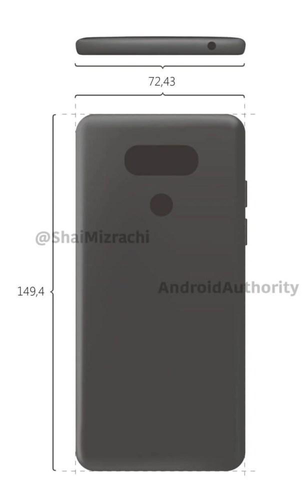 Imagem renderizada do LG G6