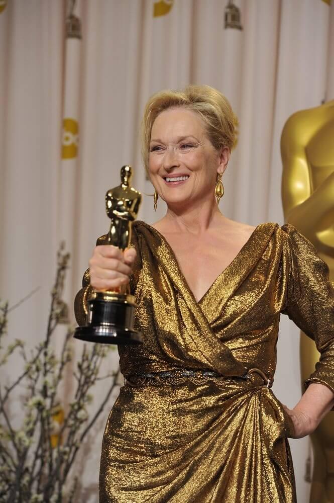 Meryl Streep já ganhou três estatuetas e concorre pela vigésima vez