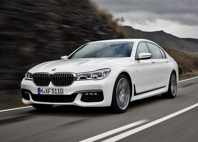 BMW Série 7, modelo que fará os testes como carro autônomo nas ruas