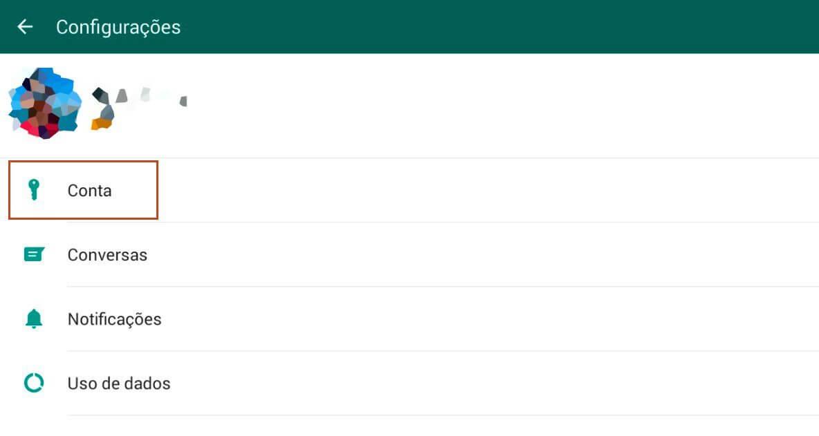 Configurações - Dica: como ativar a verificação em duas etapas do WhatsApp