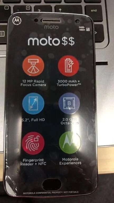Moto G5 Plus - Vaza imagem do Moto G5 Plus revelando detalhes do aparelho