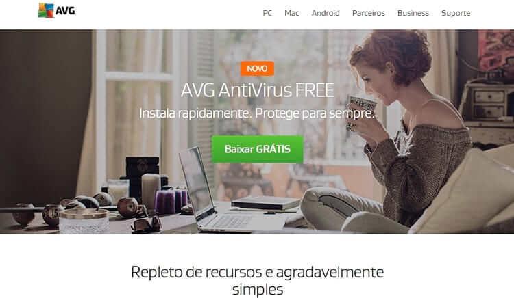 avg - Os melhores antivírus gratuitos de 2017