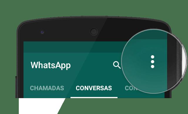 botao de menu whatsapp - Dica: como ativar a verificação em duas etapas do WhatsApp