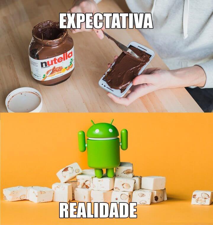 expecTATIVA ANDROID NOUGAT - Bolacha ou biscoito? Sucessor do Nougat pode ser Android Oreo