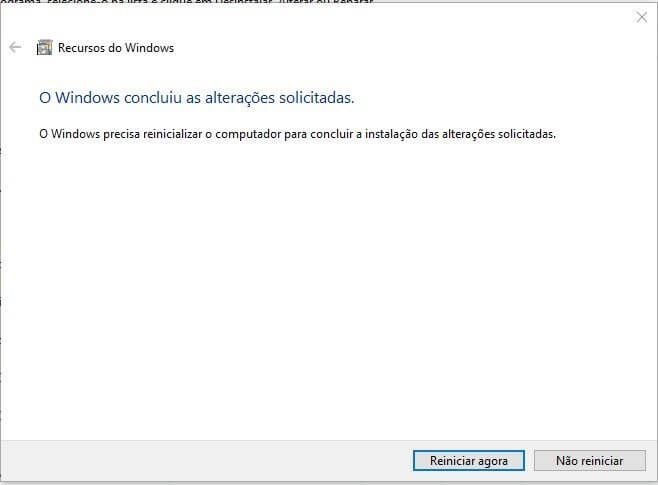 reiniciar - Tutorial: Como remover o Internet Explorer do Windows 10