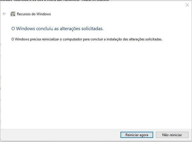 reiniciar - Tutorial: Como remover o Internet Explorer do Windows 10