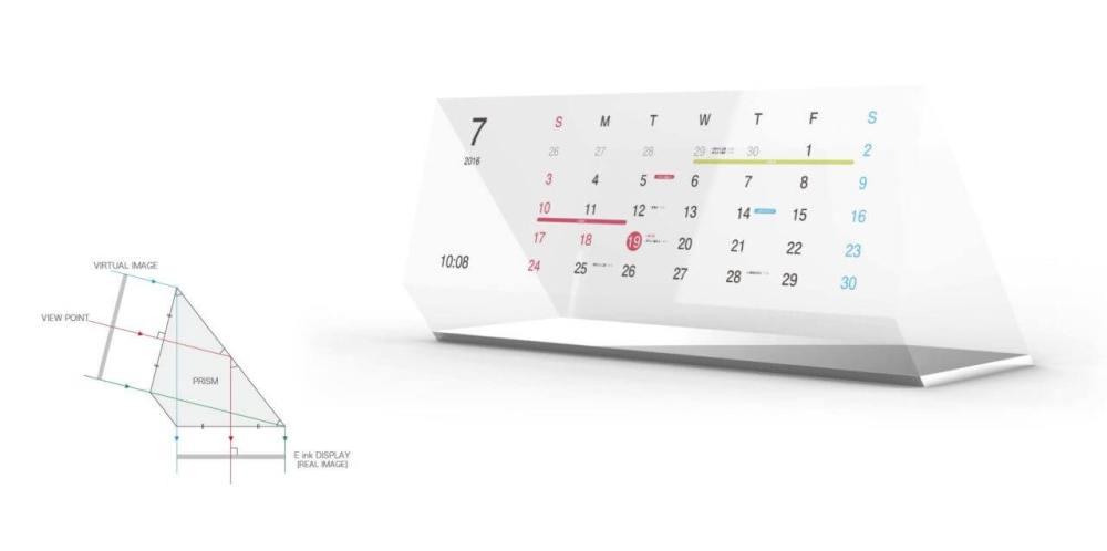 Magic Calendar concept 5 - Magic Calendar é um calendário feito de E-Paper