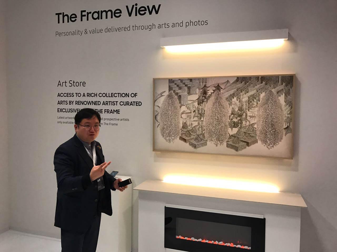 """Samsung The Frame Smart TV 1 - Samsung anuncia TV """"The Frame"""" no Louvre, em Paris"""