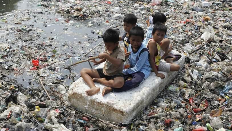 poluição crianças