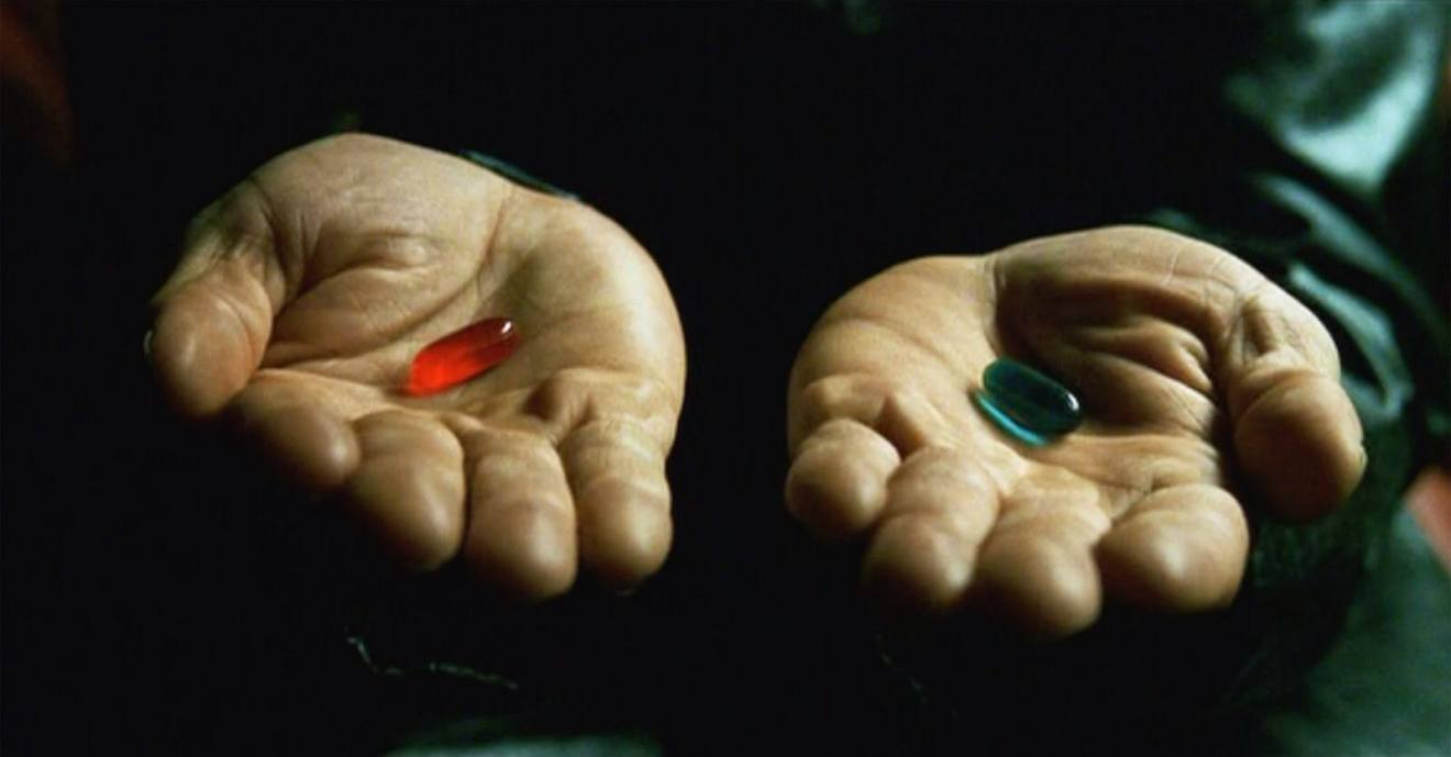 "the matrix red pill blue pill - Warner Bros trabalha em reboot de ""Matrix"""