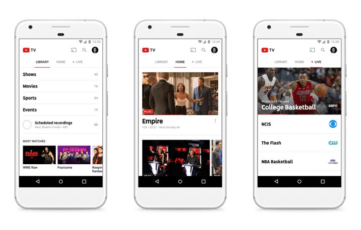 youtube tv 720x458 - Youtube anuncia próprio serviço de TV a cabo