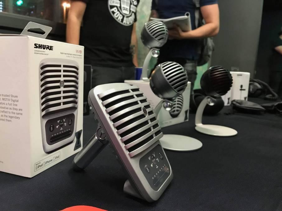 IMG 1732 - Shure apresenta linha de microfones MOTIV para influenciadores digitais
