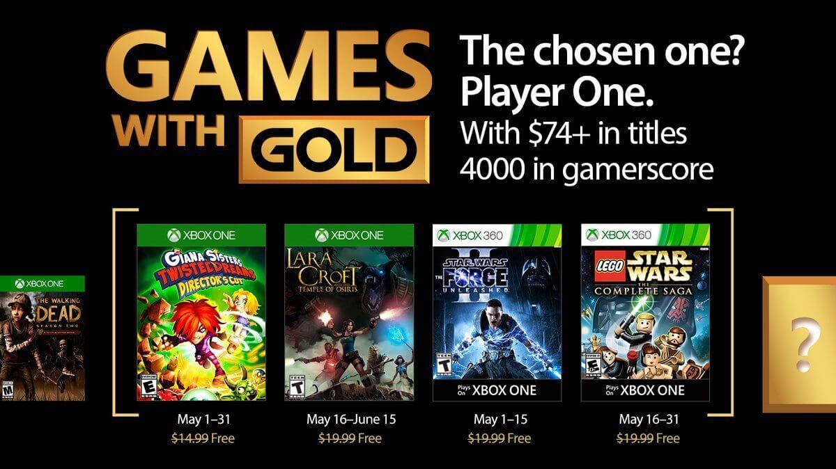 Jogos grátis na Live para maio de 2017 — Games with Gold
