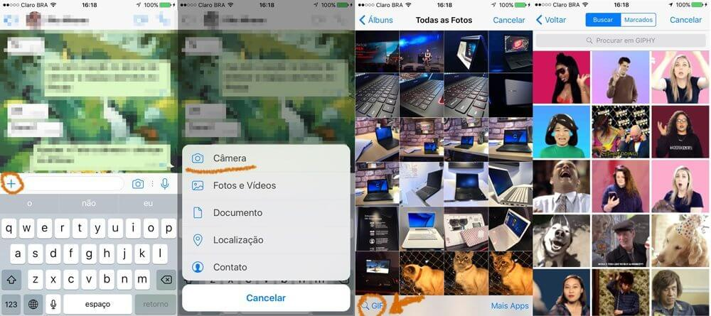 ios gifs - Tutorial: Como enviar GIFs no WhatsApp