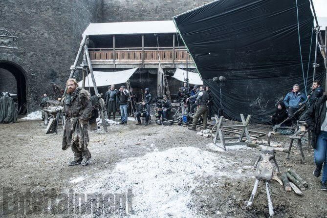 Bastidores Terror dos gigantes - Dragões e bastidores da próxima temporada de Game of Thrones