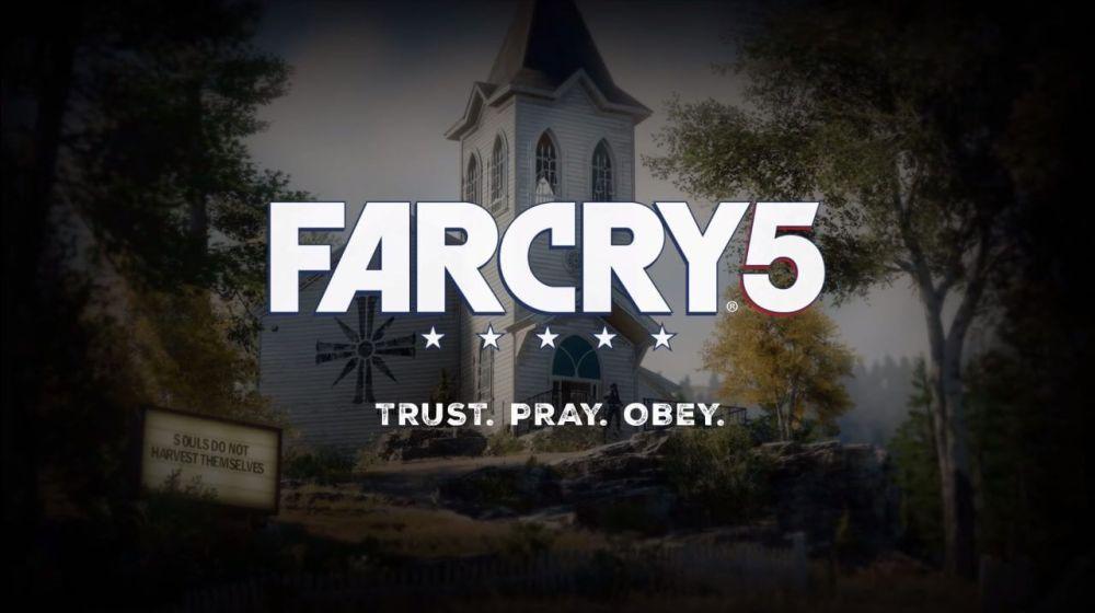 Far Cry 5 logo - Far Cry 5 recebe trailer, data de lançamento e história