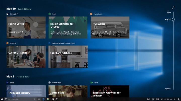 Microsoft Windows Timeline 720x405 - Build 2017: conheça tudo o que já foi anunciado pela Microsoft