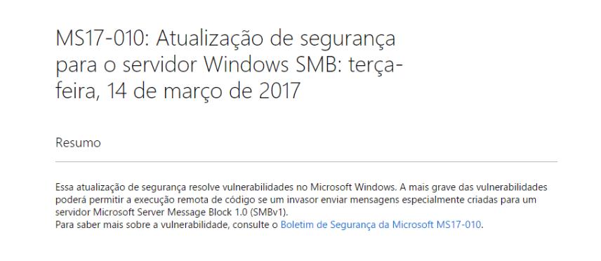 Hackers - Atualização Microsoft
