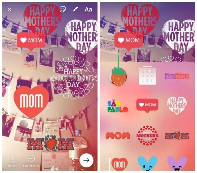 instagram - Instagram Stories lança filtros exclusivos para o Dia das Mães