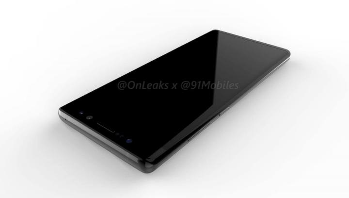 SAMSUNG GALAXY NOTE 8 RENDER FRONT
