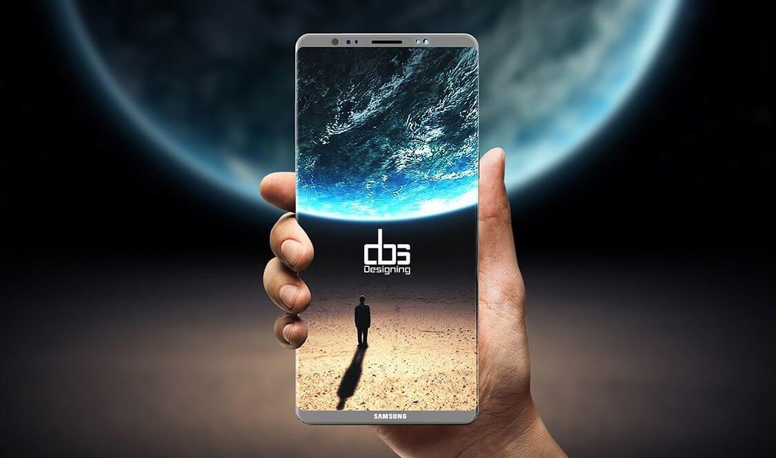 galaxy note 8 concept dbs - Vazamento mostra possível design final do Samsung Galaxy Note 8 com S-Pen