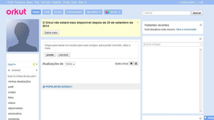 tela orkut rede social 720x405 - Retorno do Orkut? Entenda essa cilada