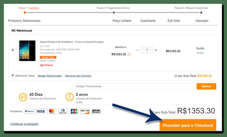 04 confira o produto escolhido - Tutorial: Como parcelar suas compras na GearBest, sem juros