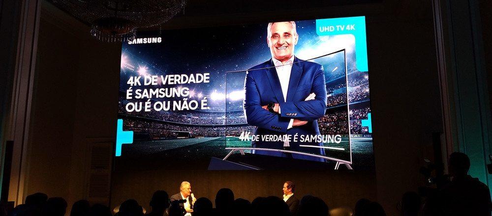 samsung tite e caio - Samsung e SporTV firmam parceria para transmissão de jogos em 4K