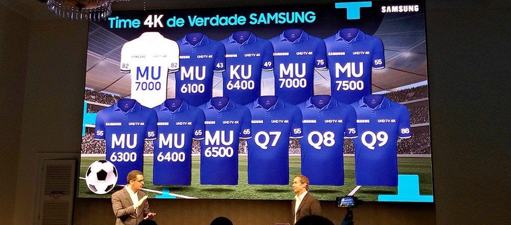 time samsung UHD4k - Samsung e SporTV firmam parceria para transmissão de jogos em 4K