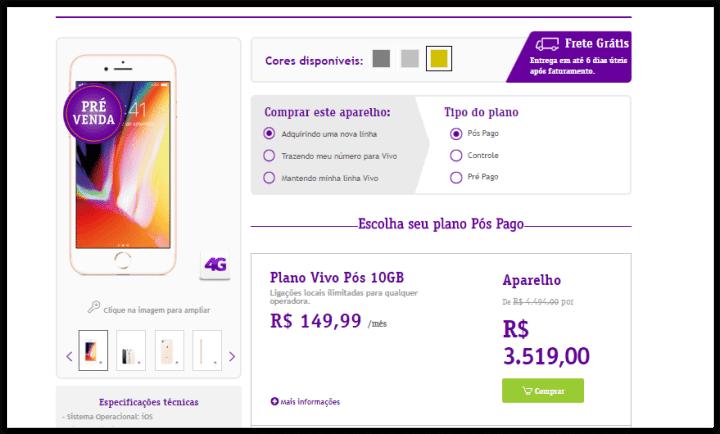 03 720x434 - Pré-venda do iPhone 8 e 8 Plus é iniciada pela Vivo