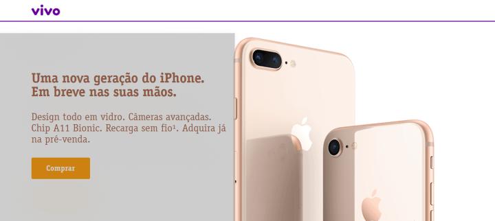 Screenshot 1 720x322 - Pré-venda do iPhone 8 e 8 Plus é iniciada pela Vivo