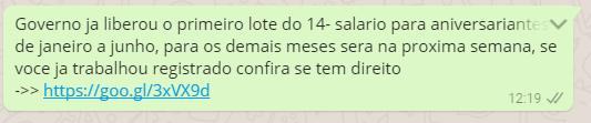 golpe - Golpe do WhatsApp que simula liberação do 14º salário já afetou mais de 320 mil brasileiros