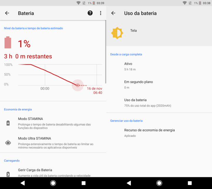 Screenshot 20171116 033904 720x641 - REVIEW: Sony Xperia XZ1, o primeiro Android Oreo do Brasil