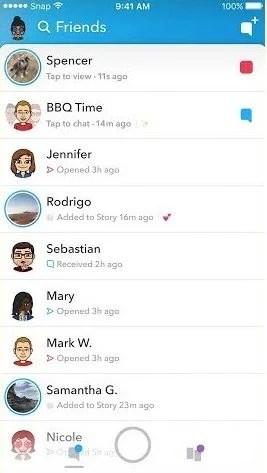 lado esquerdo a - Snapchat ganha nova interface! Confira como ficou o app