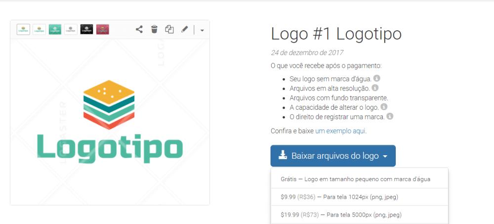 Crie uma logo para seu site em poucos minutos com a Logaster