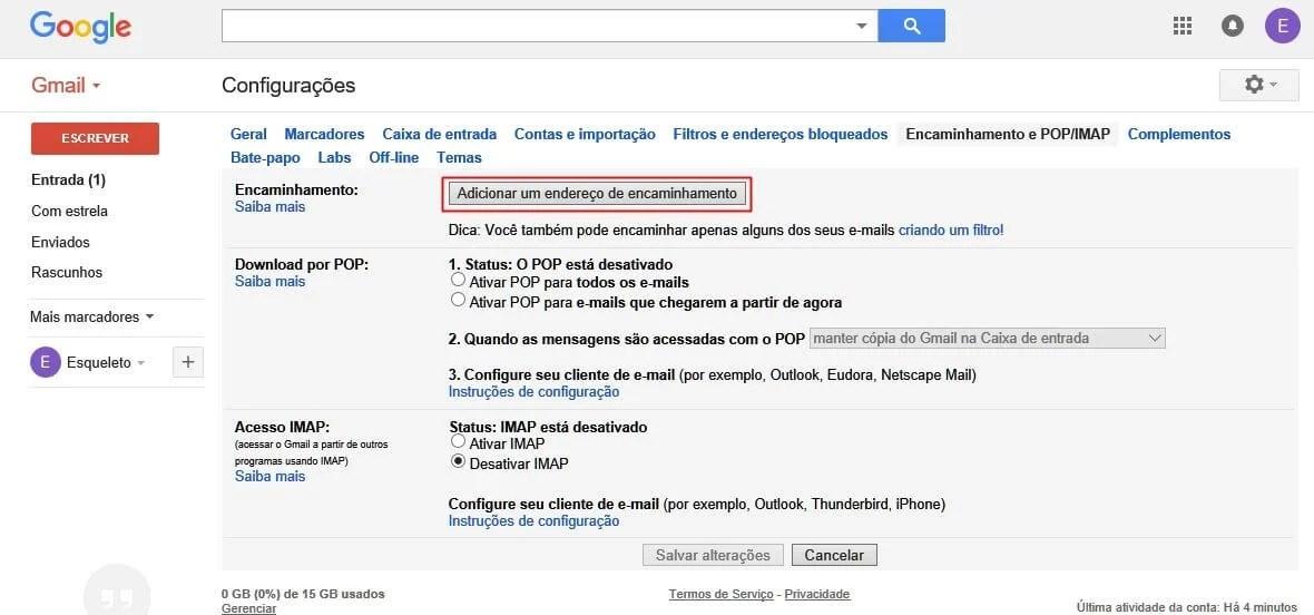 gmail tutorial 03 - Como combinar duas ou mais contas do Gmail