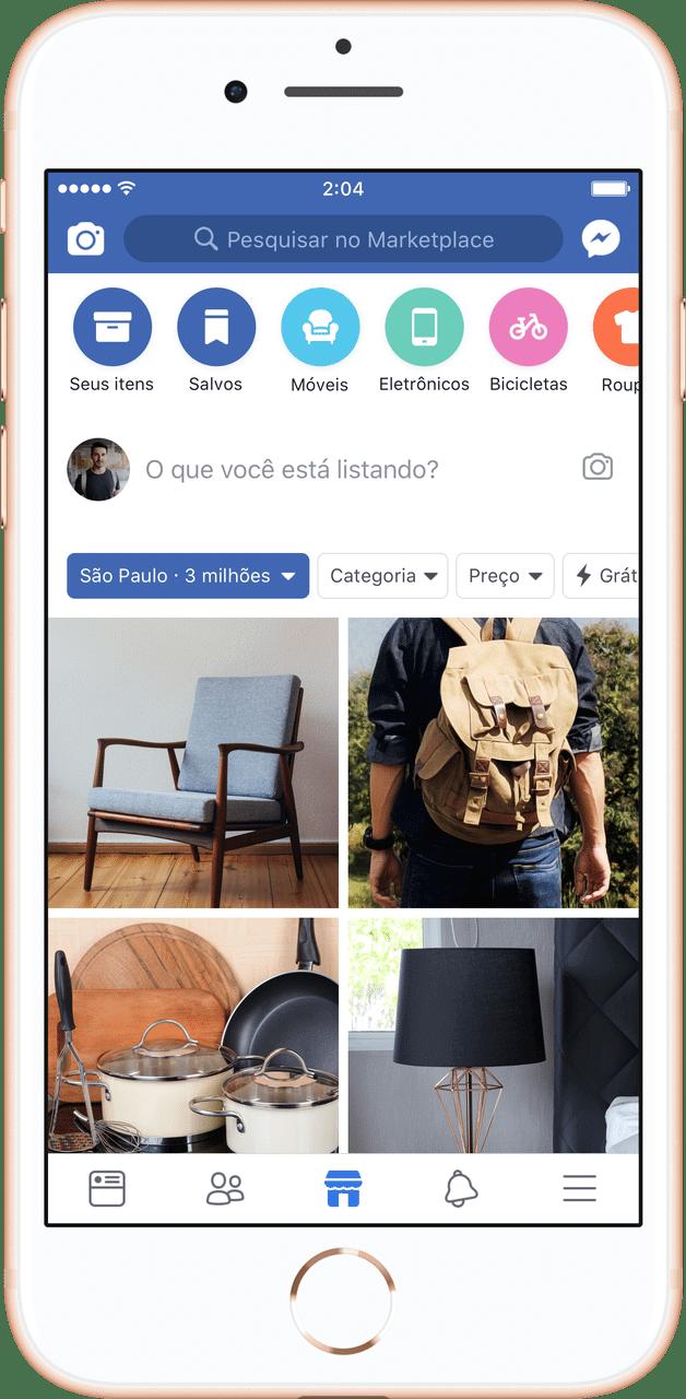Feed preview - Facebook lança Marketplace no Brasil