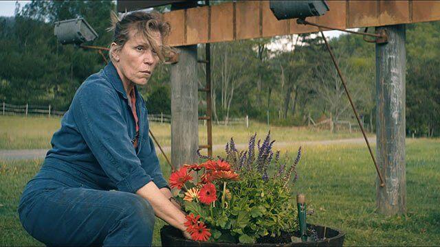 """Frances McDormand em """"Três anúncios para um crime"""""""