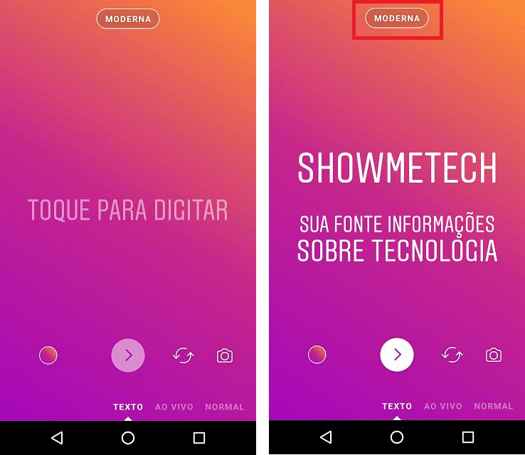 Instagram libera modo texto no Stories