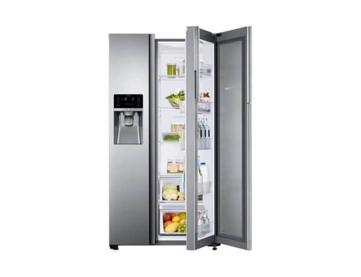 br refrigerador side by side rh58k food showcase 575 l rh58k6567sl az dynamicsilver 75006404 720x552 - Novo refrigerador da Samsung facilita o acesso aos seus alimentos favoritos