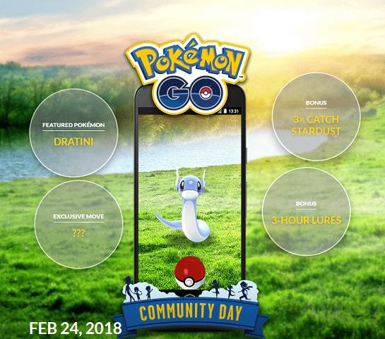 dratiniCommunityDay - Pokémon Go: Lendários de volta e evento de Dratini